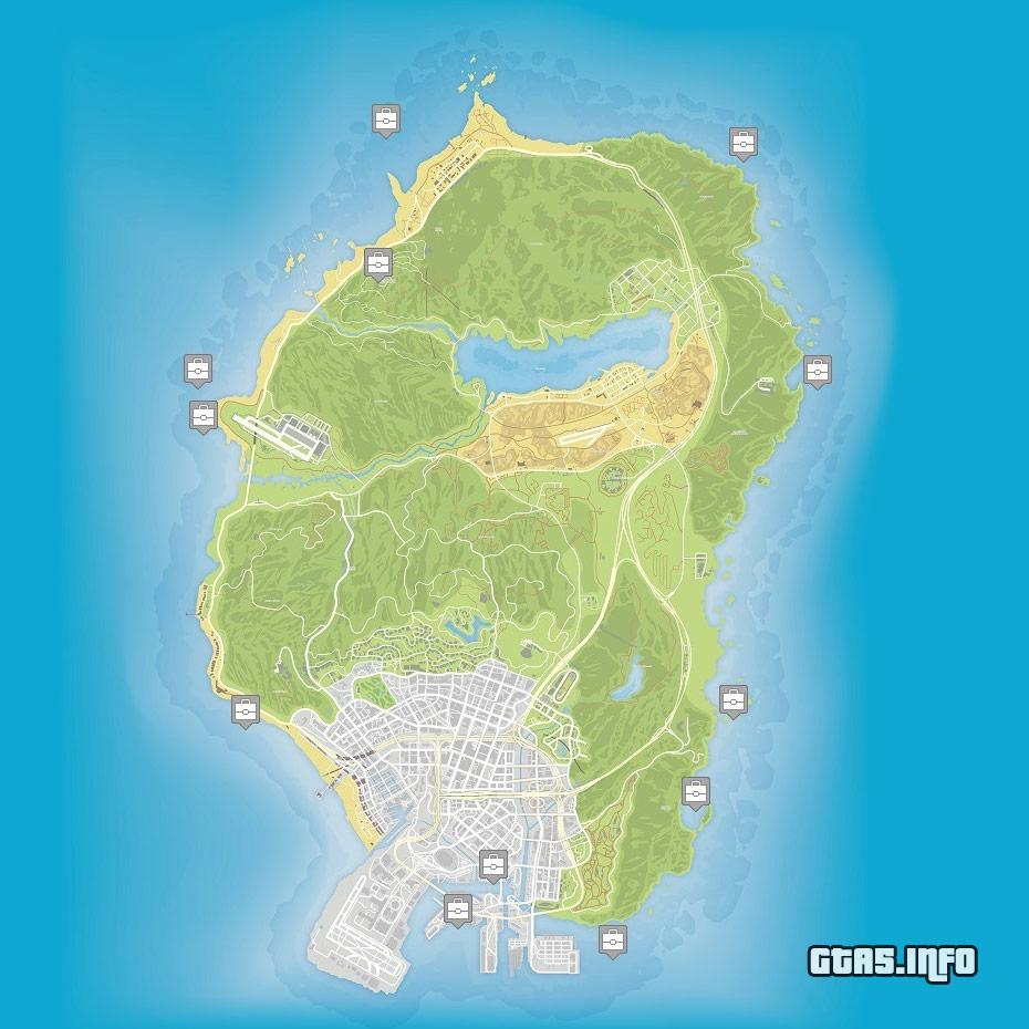 Secret Places Gta 5 Ps4: GTA 5 Hidden Package Map