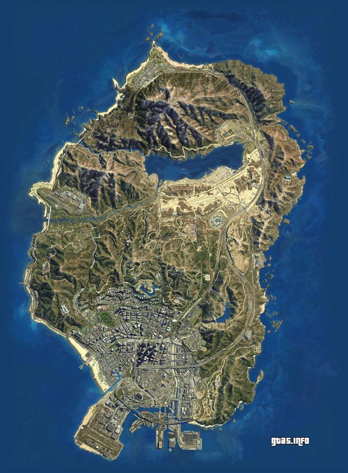 GTA 5 satellite map